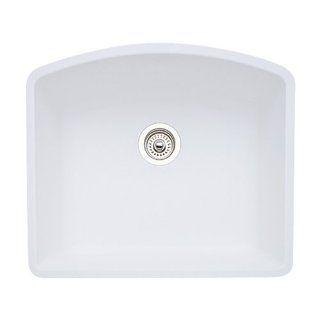 Blanco 511 711 Diamond 24 Inch by 20 13/16 Inch Single Bowl Kitchen Sink, White Finish