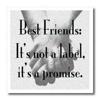 ht_171939_1 EvaDane   Quotes   Best friends its not a label its a promise.   Iron on Heat Transfers   8x8 Iron on Heat Transfer for White Material Patio, Lawn & Garden