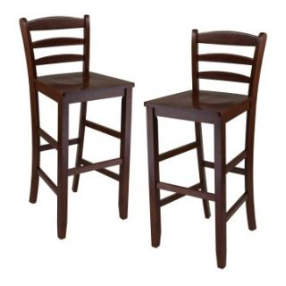 Winsome Ladder Back 29 in. Bar Stool   Set of 2   Bar Stools