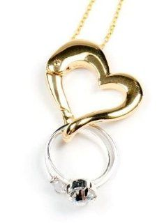 Keep Safe Ring Holder Necklace   Gold tone Jewelry