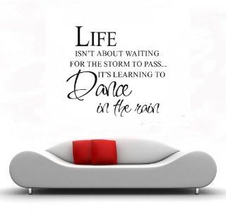 LIFE ISN'T ABOUT WAITING FOR THE STORM TO PASS IT'S LEARNING TO DANCE IN THE  Wall Decor Stickers