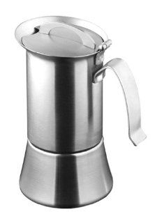 Caroni VE01021 1 or 2 Cup Induction Stainless Steel Stove Top Espresso Coffe Maker with Reduction Filter: Stovetop Espresso Pots: Kitchen & Dining