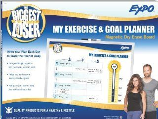Expo Biggest Loser Exercise Schedule White Board (1770994) : Dry Erase Boards : Office Products