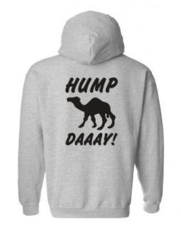Impress for Less USA Men's What Day Is It? Hump Day! Camel Zip Up Hoodie at  Men�s Clothing store: Fashion Hoodies