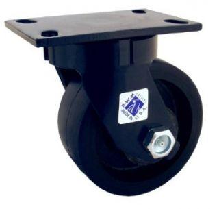 RWM Casters 2 75 Series Plate Caster, Swivel, Dual Wheel, Kingpinless, Heavy Duty Nylon Wheel Industrial & Scientific