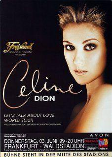Celine Dion Lets Talk Love 1999   Concert Music Poster Concertposter   Prints