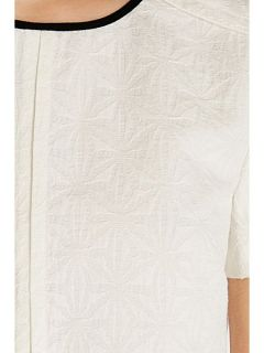 Oasis Floral geo jacquard top Off White