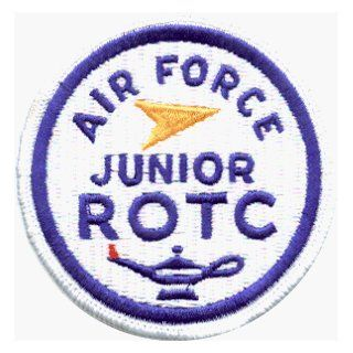 Air Force Junior ROTC Round Logo   Embroidered Iron On or Sew On Patch   DISCONTINUED LTD QUANTITY Clothing