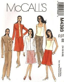 McCall 4393 Sewing Pattern Misses & Womens Career Wardrobe makes sizes 14 16 18 20 Out of Print