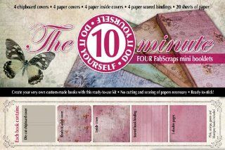Fabscraps Organic Do It Yourself 10 Minute Mini Book Kit, Makes 4   Acid Free Archival Page Albums