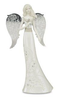 Little Things Mean A Lot Aunt Angel Figurine, 10 Inch, Holding Flowers   Collectible Figurines