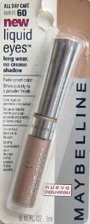 Maybelline Liquid Eyes Long wear No Crease Shadow, 60 All Day Cafe, 0.10 Fl Oz : Beauty