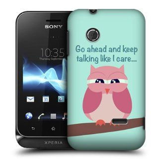 Head Case Designs Pink Wing Mean Owl Hard Back Case Cover For Sony Xperia tipo ST21i: Cell Phones & Accessories