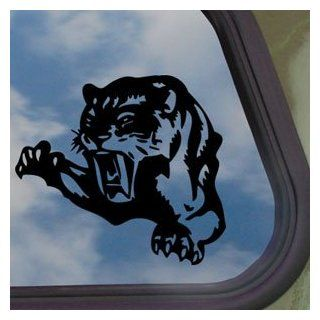 Cougar Pounce Mean Cat Growl Snarl Black Decal Car Sticker   Automotive Decals