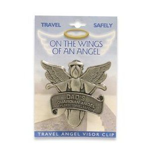 On the Wings of an Angel Visor Clip, Father, Dad's Guardian Angel Please Travel Safely   Other Products