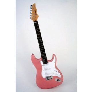 39 Inch Pink Electric Guitar with Accessories, Strap, Gig Bag, Extra Set of Strings, Amp Cord, Pitch Pipe Tuner and Pick Musical Instruments