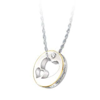 Diamond Pendant Necklace: Always My Daughter, Now Too My Friend by The Bradford Exchange: The Bradford Exchange: Jewelry