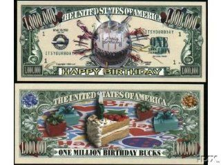 (10) Happy Birthday Million Dollar Bill: Everything Else