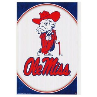 University Of Mississippi  Ole Miss Logo Poster Poster Print, 22x34