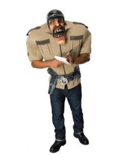 Rubies Mens Oversized Traffic Cop Outfit Halloween Costume: Clothing