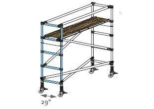 Industrial Ladder FNB 80 Base 29 in. Wide Narrow End Frame   Scaffolding Equipment