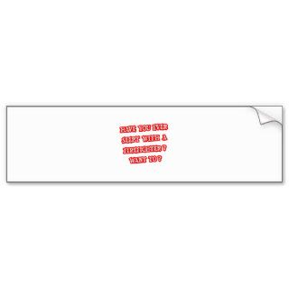 Funny Firefighter Pick Up Line Bumper Sticker