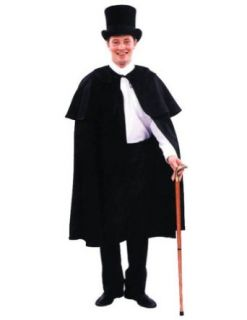 Cape Dickens Black Halloween Costume   One Size Fits Most: Clothing