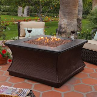 California Outdoor Concepts Monterey Chat Height Fire Pit with Brown Base Color   Fire Pits