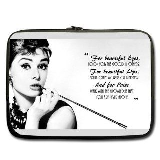 "Beautiful Eyes Audrey Hepburn Quote 13 "" Laptop Notebook Sleeve Case Bag Double Sided Print for Most of Apple Macbook, Acer, Asus, Dell, Hp, Sony,custom Cases: Computers & Accessories"