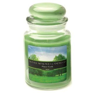 Mostly Memories Planet Earth 28 Ounce Lid Lites Soy Candle   Jar Candles