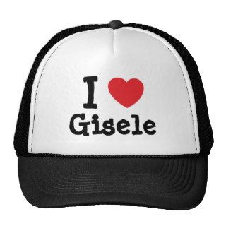 I love Gisele heart T Shirt Mesh Hat