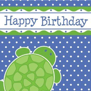 Creative Converting Mr. Turtle Happy Birthday Luncheon Napkins, 16 Count: Toys & Games