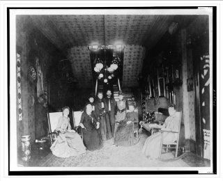 Historic Print (L): [Mrs. Distin, Mrs. Conger, Mr. and Mrs. Bruce Goodfellow, Mrs. Logan, and Mrs. Lucket se