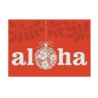 Fancy Supreme Boxed Hawaii Christmas Cards   Ornament of Aloha Health & Personal Care