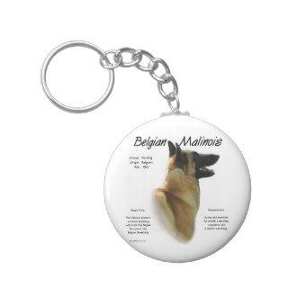 Belgian Malinois History Design Key Chain