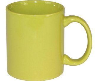 Plain Coffee Mug   Green   High Quality Ceramic Mug (11oz, Green)