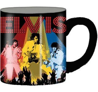 Silver Buffalo Elvis Presley On Stage Ceramic Mug, 14 Ounces, Multicolored (LV4832) Kitchen & Dining
