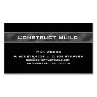Construction Contractor Business Card Metal 12
