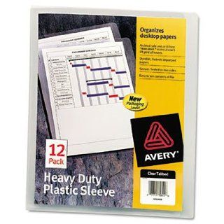6 Pack Heavy Duty Plastic Sleeves, Letter, Polypropylene, Clear, 12/Pack by AVERY DENNISON (Catalog Category Files & Filing Supplies / File Jackets / Transparent)  Sheet Protectors