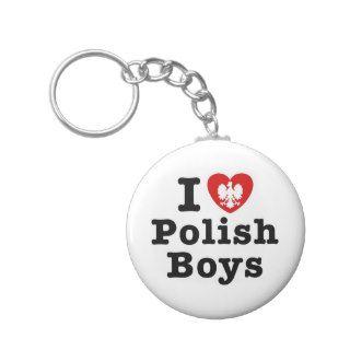 I Love Polish Boys Key Chain