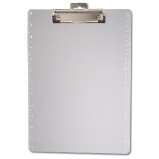 Officemate Transparent Plastic Clipboard with 12 Inch Ruler, Letter Size, Low Profile, Clear (83016)  Binder Clips