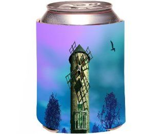 Rikki KnightTM Old Windmill Scenery Design Drinks Cooler Neoprene Koozie Kitchen & Dining