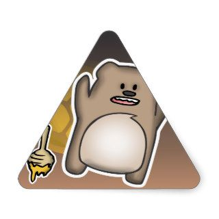 Bear Swag Triangle Sticker