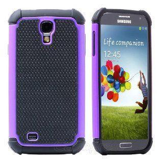 Pc Waterproof Shockproof Dirt Dust Proof Case Cover for Samsung Galaxy S4 I9500 Purple Screen Protector: Cell Phones & Accessories