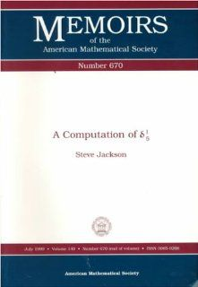 A Computation of (Greek Arithmetical Symbols) 1/5 (Memoirs of the American Mathematical Society): Steve Jackson: 9780821810910: Books
