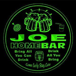 4x ccq22186 g JOE Family Name Home Bar Pub Beer Club Gift 3D Engraved Coasters