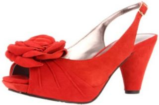 Sacha London Women's Lucy Platform Pump,Red Clay Kid Suede,7 M US: Shoes