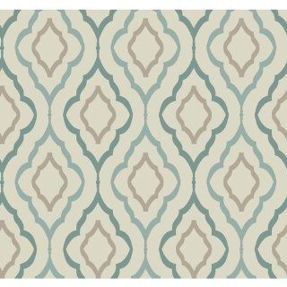 York Wallcoverings ND7086 Diva Wallpaper, Sand / Teal / Robins Egg Blue / Cocoa   York Wallcovering Inspired By Color