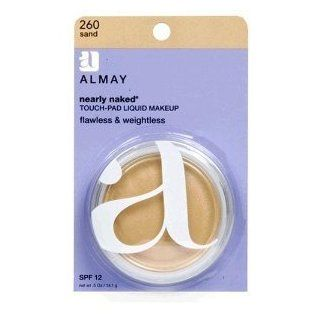 Almay Nearly Naked Touch pad Liquid Makeup with SPF 12, Sand 260, 0.5 ounce Package, 1 Each: Health & Personal Care