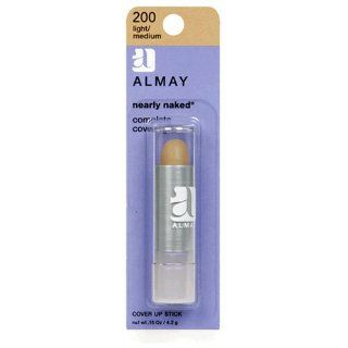 Almay Nearly Naked Cover Up Stick, Light/Medium 200, 0.15 Ounce Package : Concealers Makeup : Beauty